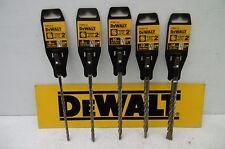 SET OF 5 DEWALT EXTREME 2   200MM SDS PLUS DRILL BITS    6 8 10 12 & 14MM
