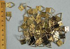 Brassed Triangular Picture Hooks x 20