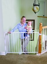 Regalo Extra Tall Top Of Stairs Gate, With Mounting Kit, White Baby Child Safty