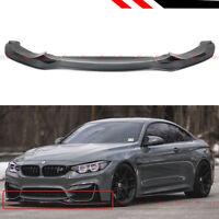 For 15-19 BMW F80 M3 F82 F83 M4 PSM Style Carbon Fiber Front Bumper Lip Splitter