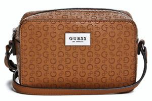 NEW GUESS Farley Womens Handbag Crossbody Shoulder Bag Brown Logo