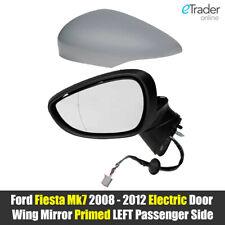 Ford Fiesta Mk7 Door Wing Mirror 2008 - 2012 Electric Primed Left Passenger Side