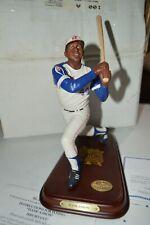 Danbury Mint Hank Aaron Atlanta Braves Baseball Statue Figurine W/Box & Coa