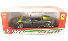 Ferrari Monza SP1 (grau metallic/gelb) 2019  1:18 Bburago