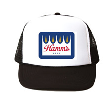 Vintage Hamm's Beer hat Trucker Hat mesh hat black new