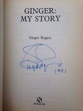 Ginger My Story, Signed By Ginger Rogers.1st Edition.