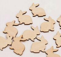 Wooden Rabbit Craft Shapes Easter Bunny Pet Embellishments Blanks