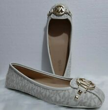 US BOUGHT MICHAEL KORS WHITE FLAT SHOES size 7