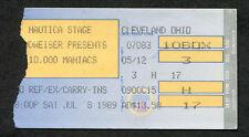 1989 10,000 Maniacs Tim Finn concert ticket stub Clevleand Ohio Blind Man's Zoo