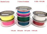 Lures Pro Fishing PE 4 braided Spectra Fishing Line  8 10 15 20 30 40 50 lb 60 7