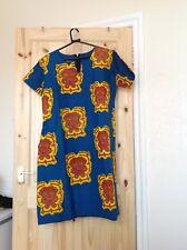 LADIES HANDMADE AFRICAN PRINT - ANKARA DRESS WITH DIAMANTE - LD34