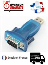 ADAPTATEUR CONVERTISSEUR USB VERS DB9 SERIE RS232 RS-232 MALE
