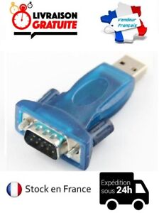 ADAPTATEUR CONVERTISSEUR USB VERS DB9 SERIE RS232 RS-232 MALE