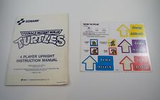 Konami Teenage Mutant Ninja Turtles, 4-Player Upright Instr. Manual / Stickers