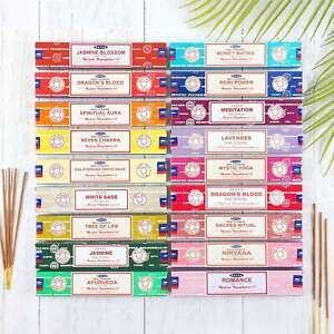 Satya Genuine Incense Sticks Nag Champa Insence Joss Mix & Match 15g Selection