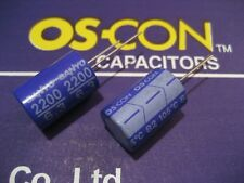 2pcs Sanyo OS-CON 2200µF/6,3V Oscon capacitors