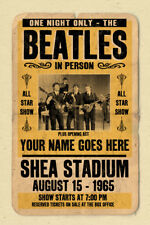 your name on a personalized concert poster with THE BEATLES
