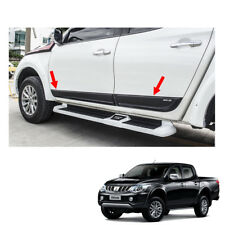 Side Molding Guard Matte Black 4 Pc Trim Fit Mitsubishi L200 Triton 2015 - 2017