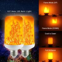 E27 9W LED Burning Light Flicker Flame Classical Lamp Bulb Fire Effect Decor