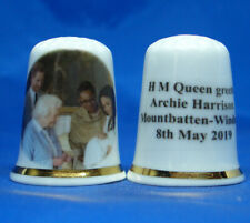 Birchcroft Thimble -- H M Queen Elizabeth meets Baby Archie with Free Dome Box