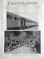 L'illustrazione Italiana 10 Luglio 1932 Olimpiadi Favretto Fawcett Firenze Siam