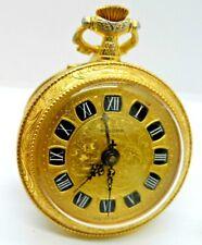 Un superbo vintage placcato oro orologio da taschino allarme mediante brevet