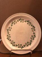 5 Brendan Erin Stone WILD SHAMROCK Salad Plates  Made In Arklow Ireland
