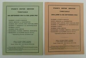 STARKS MOTOR SERVICES FOR 1964 AND 1965 ~  2 x BUS SERVICES TIMETABLES