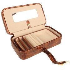 AB Collezioni Epoque Ladies Girls Jewellery Case Box - Brown Great Gift Idea