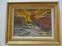 DAVID HETTINGER OIL PAINTING IMPRESSIONISM AMERICAN LANDSCAPE VINTAGE LISTED