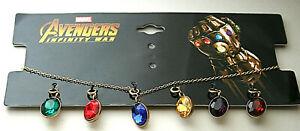 Marvel Comics Avengers Infinity War Thanos Stone Pendant Necklace New MIP Womens