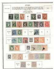 SPANISH WEST INDIES Scott 1//66 Album Page ## 1 cent start ##