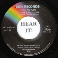 Andrews Sisters & Dan Bailey POP 45 (MCA 65016) Take Me Out To The Ballgame VG++