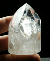 A Translucent! Polished Fire and Ice Quartz Crystal From Brazil 140gr