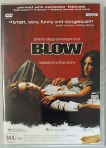 Blow (DVD, 2002) Johnny Depp & Penelope Cruz (Region 4)