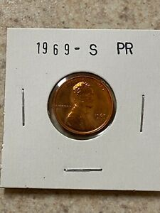 1969 S PROOF LINCOLN MEMORIAL CENT PENNY