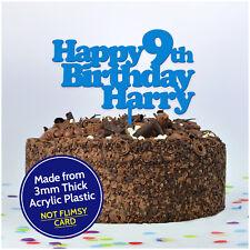 Custom ANY NAME ANY AGE Happy Birthday Cake Topper Kids Boys Girls Decorations