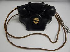 Antique Rare 1930's Kellogg Black Bakelite Ashtray Phone