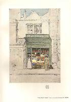 1905 Viktorianisch Studio Aufdruck ~ The Frucht Laden Von W. Mönch