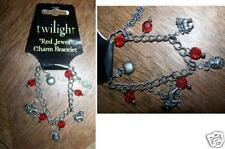 Twilight Saga Red Jewel Charm Bracelet Cullen Crest Lion New NECA