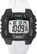 Timex T49901, Men's Expedition White Resin Watch, Alarm, Indiglo T499019J