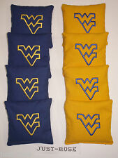 WEST VA MOUNTAINEERS O L Cornhole ACA REGULATION Bean Corn TOSS Bags EMBROIDERED