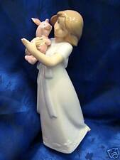 CUDDLES WITH PIGLET DISNEY WINNIE POOH PORCELAIN FIGURINE NAO BY LLADRO   #1587