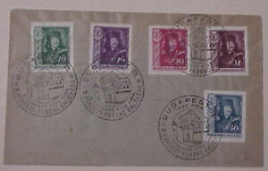 HUNGARY FDC 1933 APRIL 8 PICTORIAL CANCEL