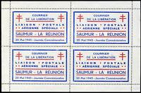 FRANCE LIBÉRATION SAUMUR Liaison Aérienne SAUMUR-LA RÉUNION N° 1 NEUF(*) FEUILLE