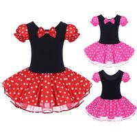 Minnie Mouse Polka Dots Tutu Dress for Baby Kid Girls Birthday Party Sundress