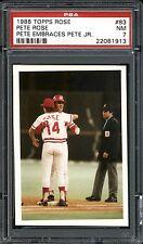 1986 Topps Pete Rose Set #83 Embraces Pete Rose Jr ~PSA 7~ Reds *MJ