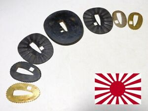 Japan Imperial Navy WW2 Antique GUNTO Tsuba & Seppa Serial number #2 Matched
