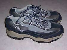 BRAHMA Amy Navy Blue Gray Leather Steel Toe Work Shoes Womens Sneakers Size 11M