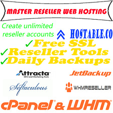 MASTER RESELLER CPANEL/WHM Unlimited accounts! Instant!
